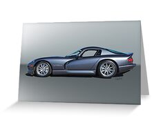 2000 Dodge Viper GTS VS3 'Profile' Greeting Card