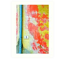 Drainpipe, amazing wall and number three Art Print