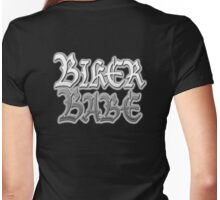Biker, Babe, Girls, Motorbike, Motor cycle, Motorcycling, Gothic Biker chic,  Womens Fitted T-Shirt