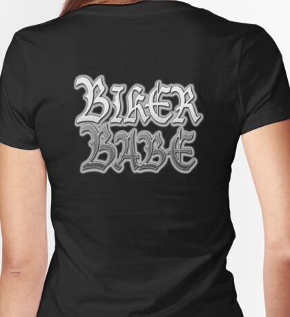 Biker, Babe, Girls, Motorbike, Motor cycle, Motorcycling, Gothic, Biker chic,  Womens Fitted T-Shirt