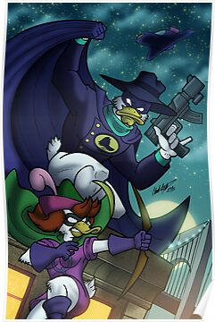 "Darkwing Duck and Quiverwing Quack"" Posters by illumistrations ..."