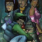 African American Scooby Doo Detective Agency by illumistrations