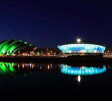 River Clyde at Night by Maria Gaellman