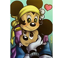 Mickey and Minnie Mouse Photographic Print