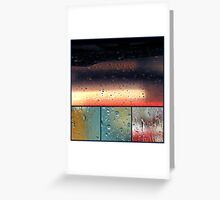 windows and rain Greeting Card