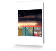 windows and rain Greeting Card