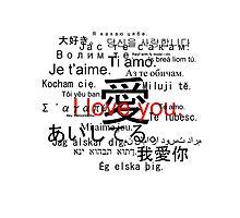 Aishiteru. Je t'aime. I love you. Photographic Print