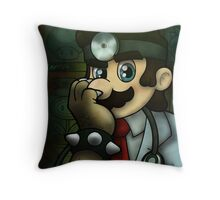 Dr. Dexter Mario Throw Pillow