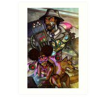 African American Inspector Gadget Art Print