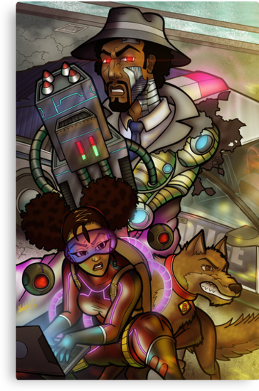 African American Inspector Gadget by illumistrations