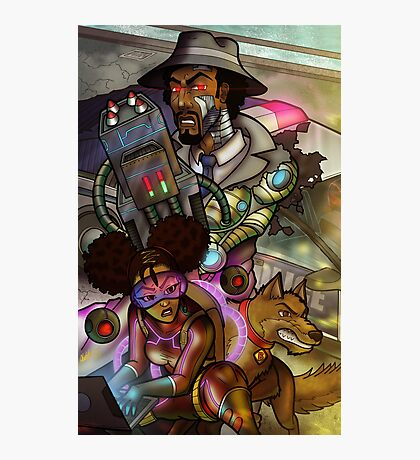 African American Inspector Gadget Photographic Print