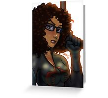 African American Baroness Greeting Card