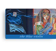 The Blue Violin Canvas Print