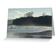 Winter Beach ~ Goodrington, South Devon Greeting Card