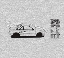 Toyota AW11 MR2 - AERO Graphic by Lindsay Thebus