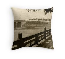 Mei Shan River Front Throw Pillow