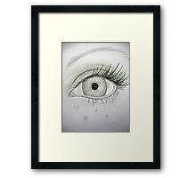 Pencil Eye Framed Print