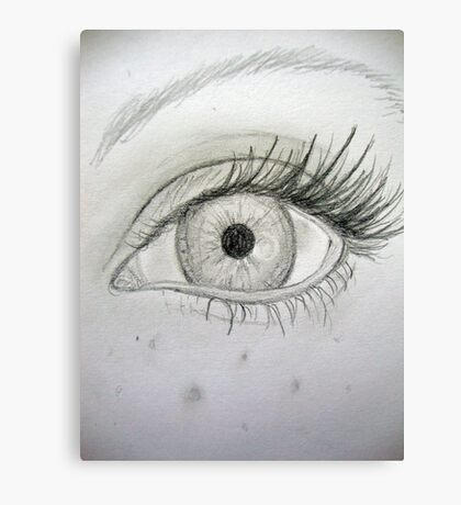 Pencil Eye Canvas Print