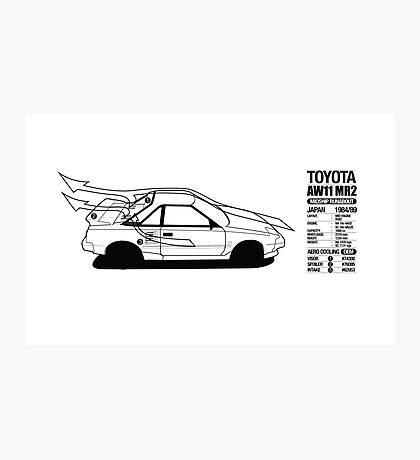 Toyota AW11 MR2 - AERO Graphic - PRINT Photographic Print