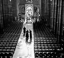 Clergy at Westminster Abbey by Trish  Anderson