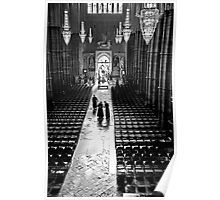 Clergy at Westminster Abbey Poster