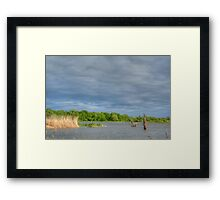 Grey Waters and Grey Sky Framed Print