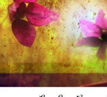 marriage of Titania; Salmon berry floral duet Sticker
