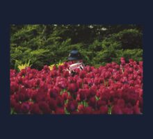 Toddler in a Sea of Tulips Kids Clothes