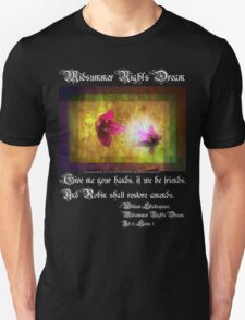 marriage of Titania; Salmon berry floral duet Unisex T-Shirt