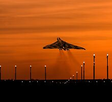 Vulcan Bomber sunset take off by AviationPrints