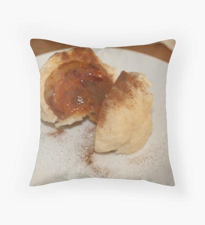 Apricot Dumplings Throw Pillow