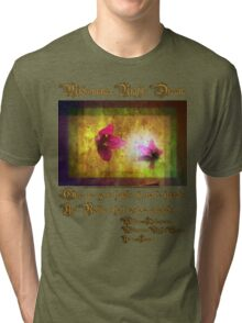 marriage of Titania; Salmon berry floral duet Tri-blend T-Shirt