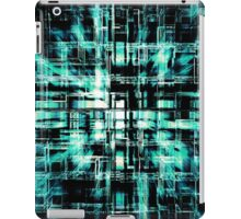 Green Geometric Cubes In Motion iPad Case/Skin
