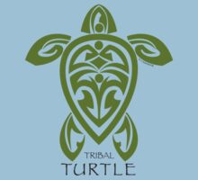 Green Tribal Turtle Kids Clothes