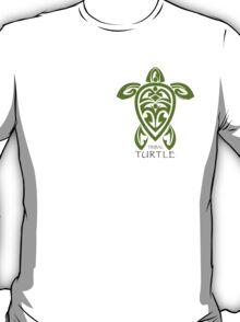 Green Tribal Turtle T-Shirt