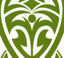 Green Tribal Turtle Sticker