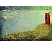 Vintage British Phone Box Photographic Print