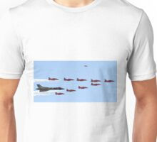 Vulcan Bomber XH558 and Red Arrows RIAT 2015 Unisex T-Shirt