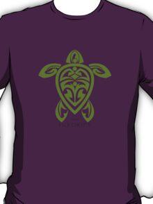 Green Tribal Turtle  / Ho'okipa Maui T-Shirt