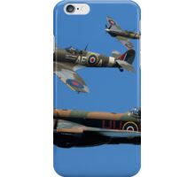 Lancaster Bomber and Spitfire Escorts iPhone Case/Skin