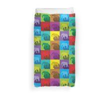 ELEPHANTS in many colours Duvet Cover