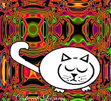 Black & White Cat Ignoring The World Around Him by Deborah Lazarus