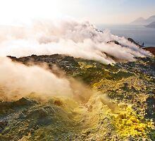Sunset on a Volcano by Mario Curcio