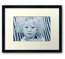 IRIS (5)  -  DO I LOOK SURPRISED..??? Framed Print