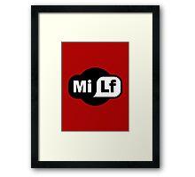 MILF - Wi-Fi Parody Framed Print