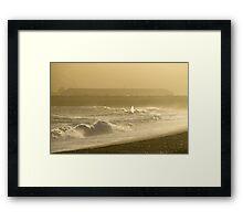 Sunset Surf at Seaford Bay Framed Print