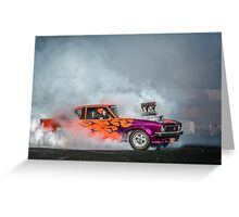 FRYZEM Tread Cemetery Burnout Greeting Card