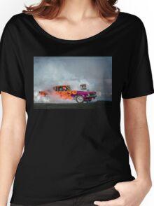 FRYZEM Tread Cemetery Burnout Women's Relaxed Fit T-Shirt