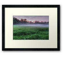 Misty Glen Just After Sunset Framed Print