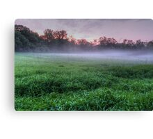Misty Glen Just After Sunset Canvas Print